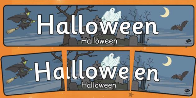 Halloween Display Banner Romanian Translation - romanian, halloween, hallowe'en, display banner, display, banner