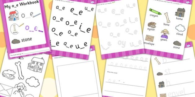 Phase 5 o_e Grapheme Workbook - graphemes, phase five, visual aid