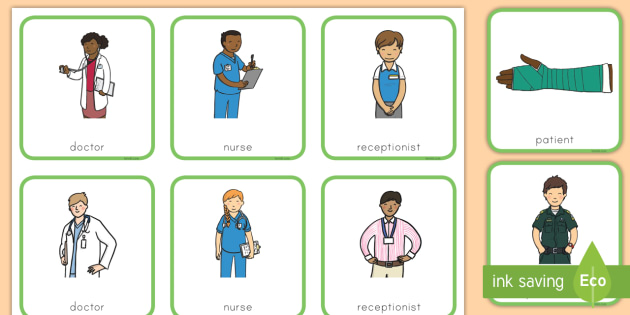 Role-play Workers Worker Hospital Play Badges Badges Hospital - Dramatic