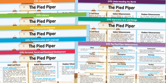 The Pied Piper EYFS Lesson Plan and Enhancement Ideas - planning, story books, lesson ideas