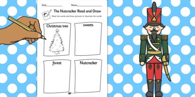 The Nutcracker Read and Draw Worksheet - nutcracker, read, draw