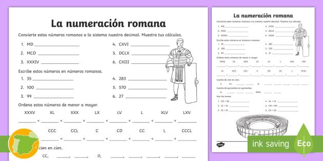 Ficha De Actividad La Numeración Romana Números Romanos Cifras