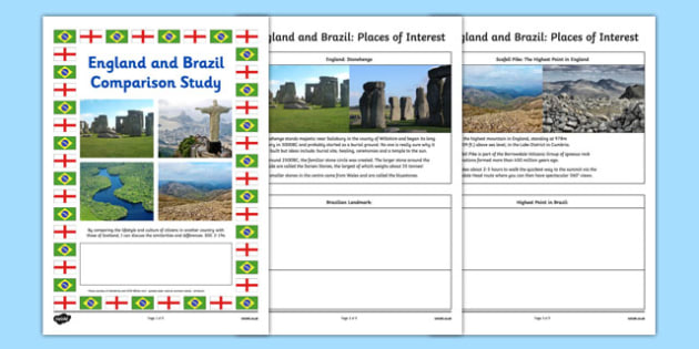 England and Brazil Comparison Study Research Booklet