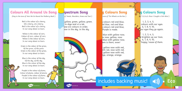 Songs And Nursery Rhymes Colours Resource Pack Twinkl