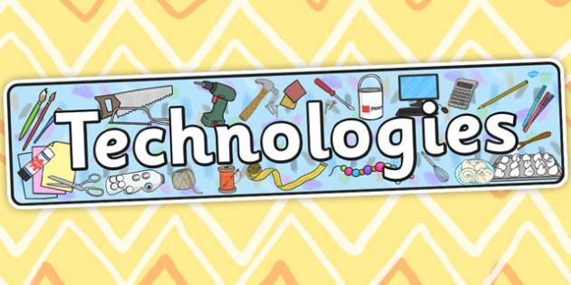 Technologies Curriculum For Excellence Display Banner - DT, design