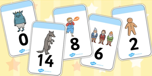 Fairy-tale Number Cards 0-30 - fairy tales, stories, numeracy
