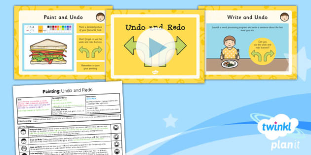 Computing: Painting: Undo and Redo Year 1 Lesson Pack 4
