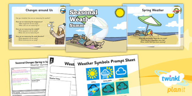 Science: Seasonal Changes (Spring and Summer): Seasonal Weather Summer Year 1 Lesson Pack 5