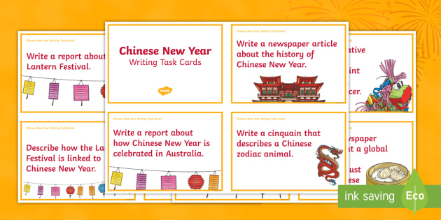 chinese new year writing task cards china celebration poetry persuasive writing