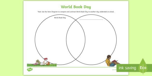 New   World Book Day Venn Diagram Worksheet