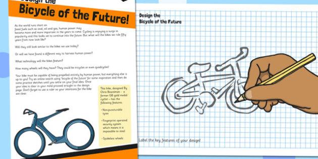 Design the Bike of the Future Activity Sheet - bike, future, worksheet