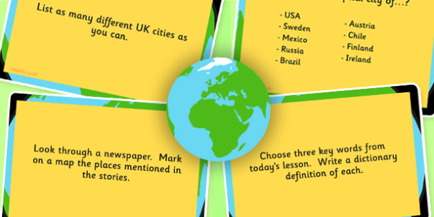 Geography Challenge Cards Upper and Lower KS2 Pack - geography