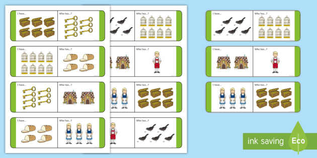 Hansel and Gretel 'I Have, Who Has...' Counting Activity - count