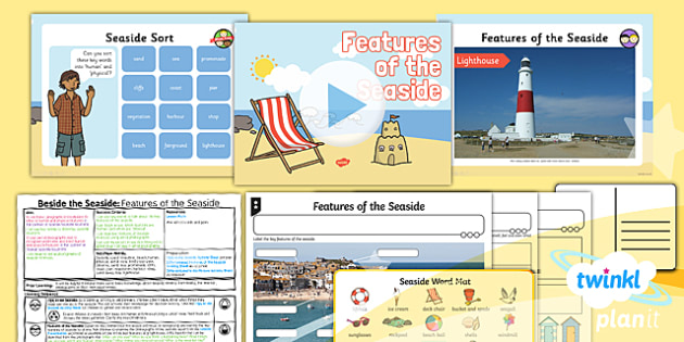 Geography: Beside the Seaside: Features of the Seaside Year 2 Lesson Pack 2