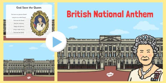 British National Anthem PowerPoint