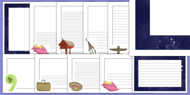 Matariki Themed Page Borders Pack - nz, new zealand, matariki, page borders, pack