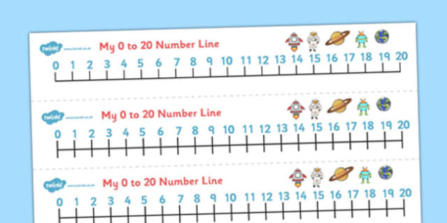 0-20 Number Line (Space) - Counting, Numberline, Number line, Counting on, Counting back, space, moon, sun, earth, mars, ship, rocket, alien, launch, stars, planet, planets