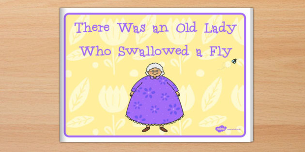 graphic about There Was an Old Lady Printable Template titled There Was an Previous Female Who Swallowed a Fly guide - e-book, fly