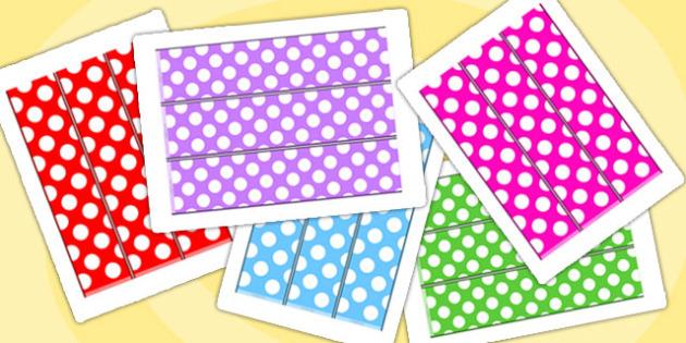 Polka Dot Display Borders - borders, display borders, display
