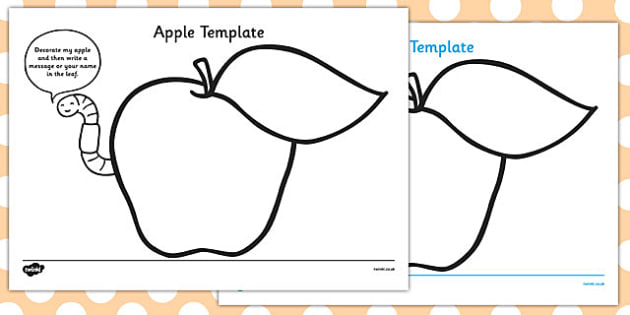 Paper Apples Template - paper apples, paper, apples, template