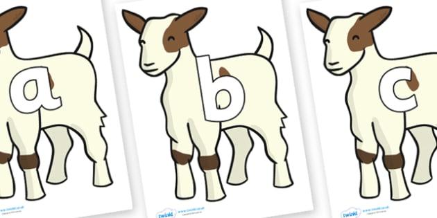 Phoneme Set on Baby Goats - Phoneme set, phonemes, phoneme, Letters and Sounds, DfES, display, Phase 1, Phase 2, Phase 3, Phase 5, Foundation, Literacy
