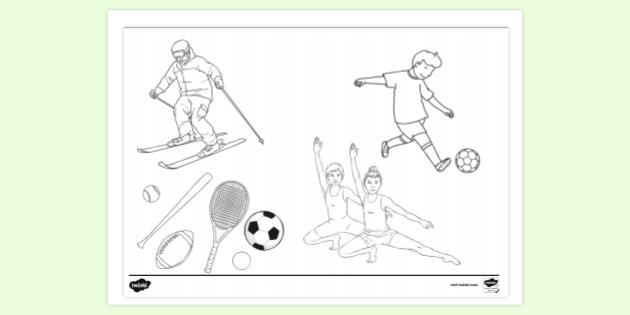 Free Sports Colouring Pages For Kids Twinkl