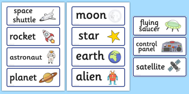 Spaceship Role Play Word Cards - Space Ship Role Play Pack, space, Word cards, Word Card, flashcard, flashcards, rocket, space ship, alien, moon, astronaut, space log, stars, planets, role play, display, poster