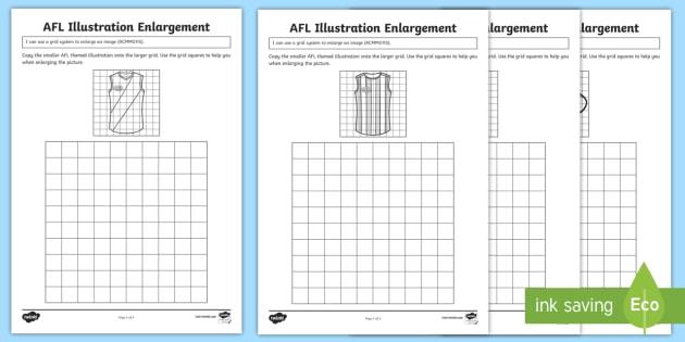 afl illustration enlargement worksheet activity sheets acmmg115. Black Bedroom Furniture Sets. Home Design Ideas