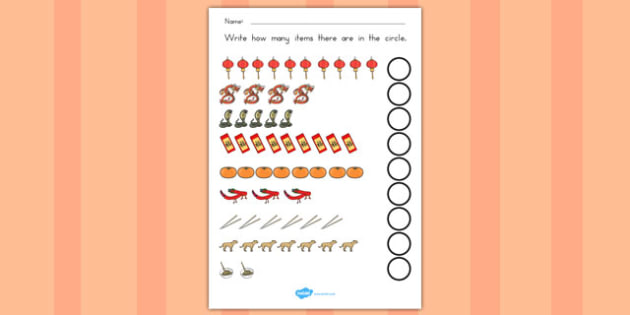 Chinese New Year Counting Sheet - australia, chinese, new year