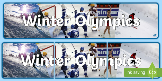 Winter Olympics Photo Display Banner - winter olympics, winter, photo display banner, display banner, photo banner, banner, banner for display,  photos