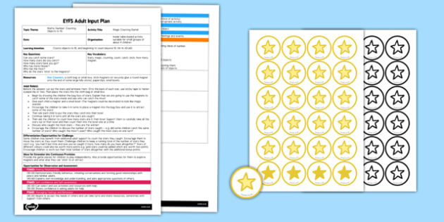 Magic Counting Game EYFS Adult Input Plan and Resource Pack - magic, counting, game, eyfs, adult, input, plan