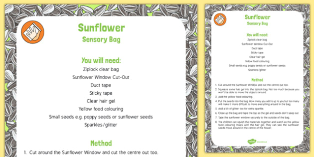 Sunflower Sensory Bag