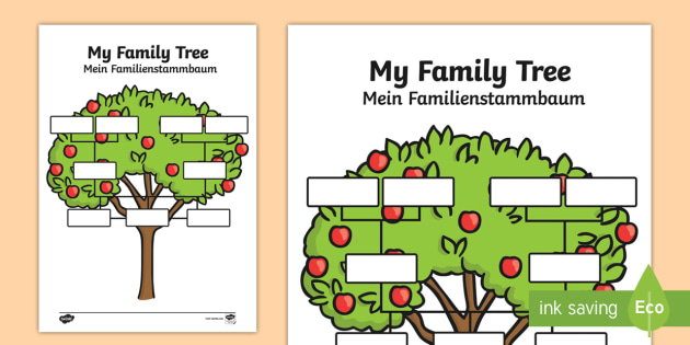 my family tree worksheet activity sheets english german