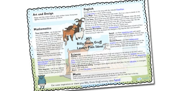 The Billy Goats Gruff Lesson Planners KS1 - lesson plan, lessons