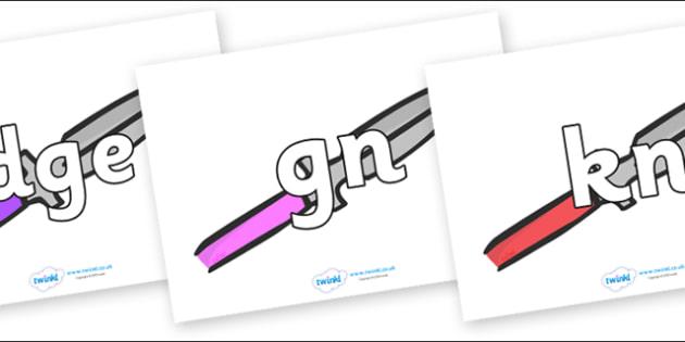 Silent Letters on Spears - Silent Letters, silent letter, letter blend, consonant, consonants, digraph, trigraph, A-Z letters, literacy, alphabet, letters, alternative sounds