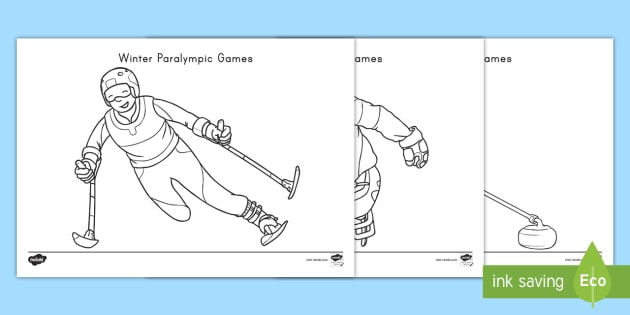Winter Paralympic Games Coloring Pages - Winter Olympics
