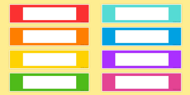 Coloured Editable Gratnells Tray Labels Colours