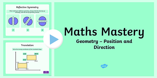 Year 5 Maths Geometry Position and Direction Mastery Activities PowerPoint