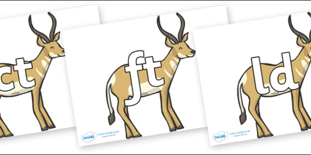 Final Letter Blends on Antelope - Final Letters, final letter, letter blend, letter blends, consonant, consonants, digraph, trigraph, literacy, alphabet, letters, foundation stage literacy