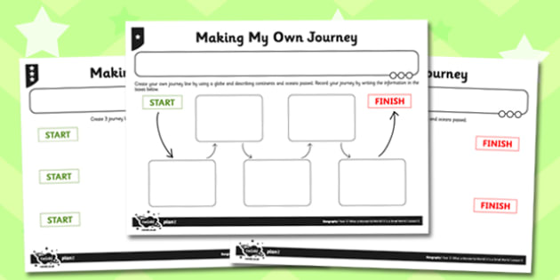 What a Wonderful World Activity Sheet Making My Own Journey, worksheet