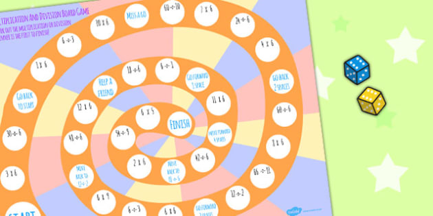 6 times table multiplication and division board game board - Free online times tables games ...