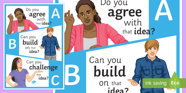 ABC Agree Build On and Challenge Ideas Display Poster - display