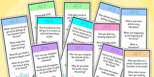 AF Guided Reading Bookmarks - assessment focus, assessment focus bookmarks, af bookmarks, blank bookmarks, editable af bookmarks, blank af bookmarks, af