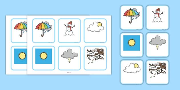 Weather Matching Cards-Irish