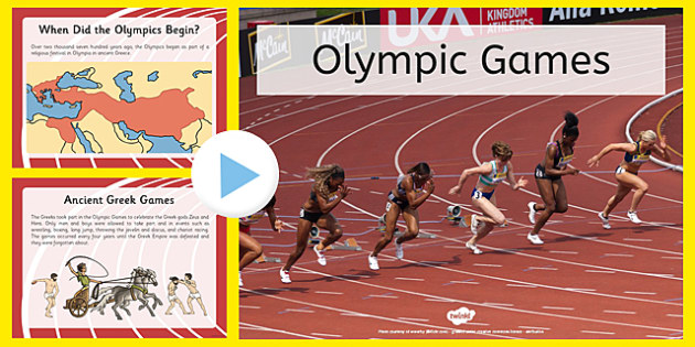 All About The Olympics PowerPoint - Brazil, Rio 2016, , Modern, Ancient Greek, Olympic Rings, Olympic Torch