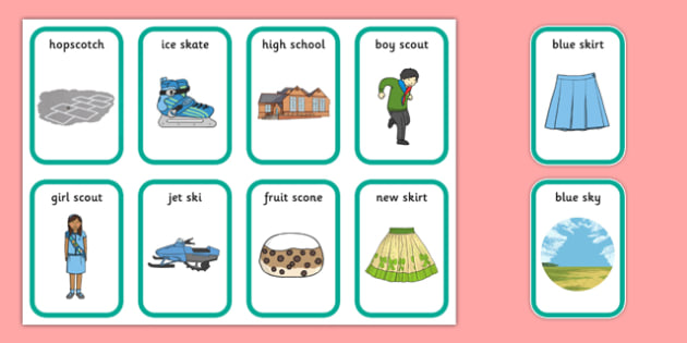 Word Medial SC SK Playing Cards - speech sounds, phonology