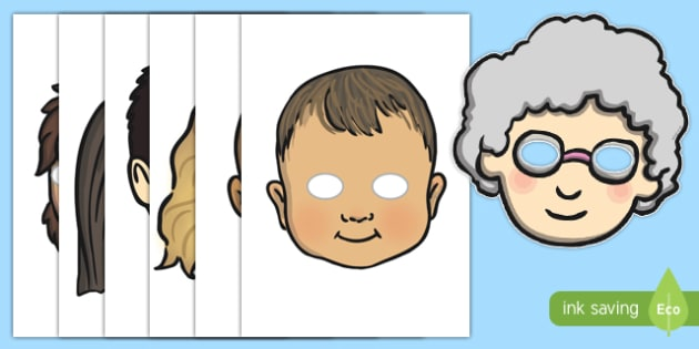 Growing Up Role Play Masks
