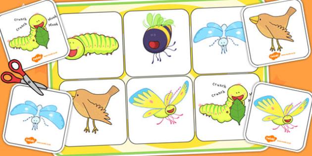 Matching Mat SEN to Support Teaching on The Crunching Munching Caterpillar - match