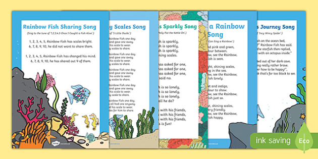 Songs and Rhymes Resource Pack to Support Teaching on The Rainbow Fish