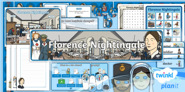 Significant Individuals: Florence Nightingale Y2 Display Pack - Nurses, Victorians, Crimean war, mini topic, year one history, Mary Seacole